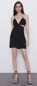 μαύρο καλοκαιρινό φόρεμα με cutouts