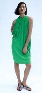 πράσινο φαρδύ φόρεμα βραδινές εμφανίσεις