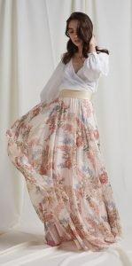 maxi floral αέρινη φούστα bsb 2020
